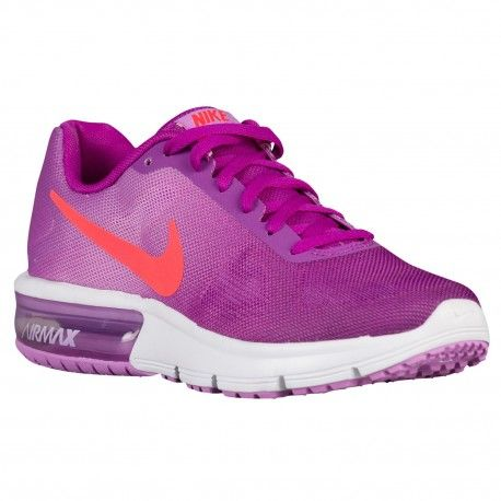Nike Air Max Sequent Girls Grade School Vivid Purple/Bright Crimson/Fuchsia Glow/White Running Shoes