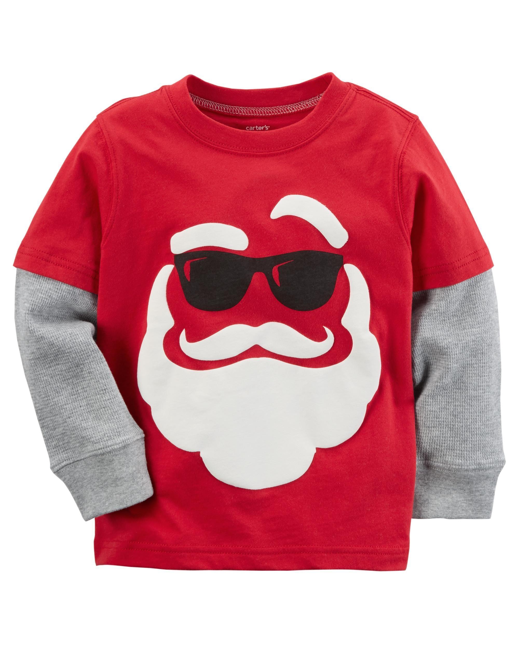 New CARTER/'S Boy/'s Santa Pajamas 6m 12m Christmas Holiday Red