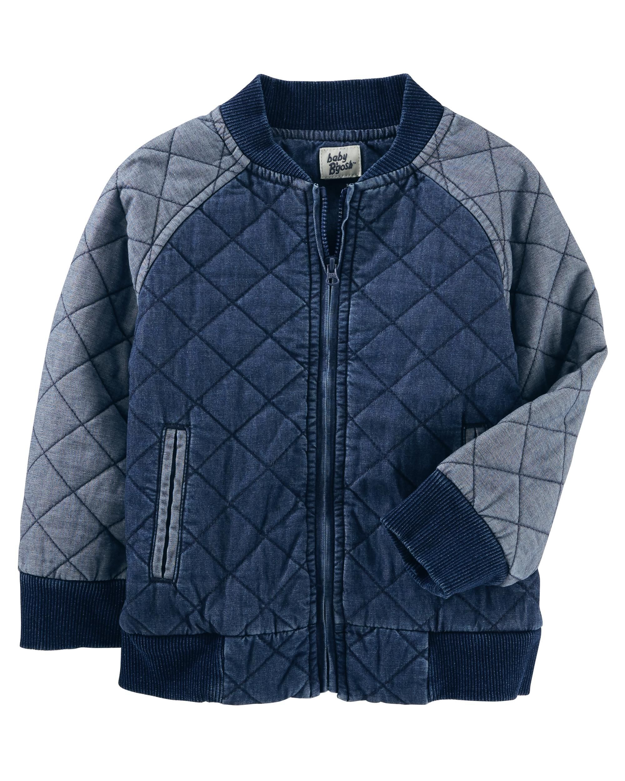 Quilted Denim Jacket Prince Of New Wales Baby Boy Jackets Toddler Fashion Stylish Baby Girls