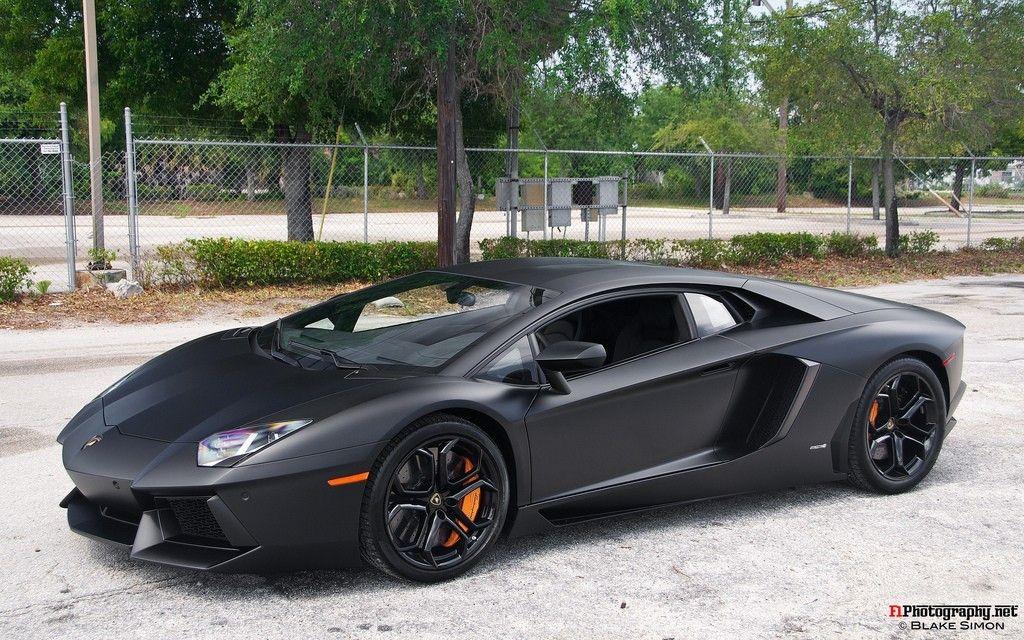 Matte Black Lamborghini Aventador Lamborghini Aventador