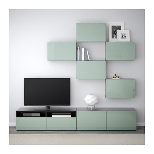 Best tv storage combination black brown selsviken high for Planner ikea soggiorno