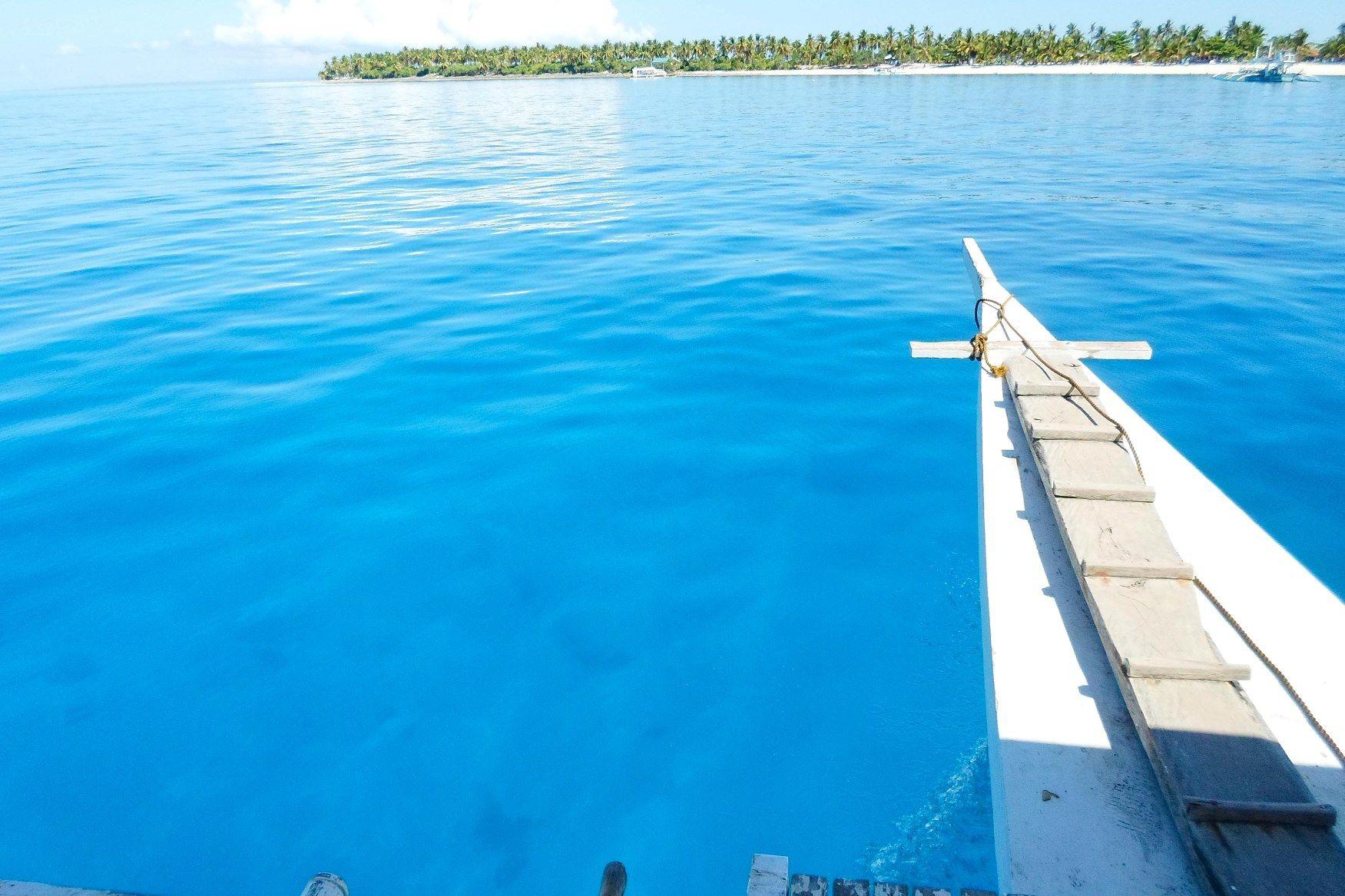 The blue water of Kalanggaman Island. May 01, 2013