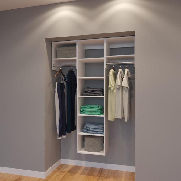 Vista 4 5 Ft Closet Organizer System 54 Inch Style B Closet System Modular Closets Closet Organization