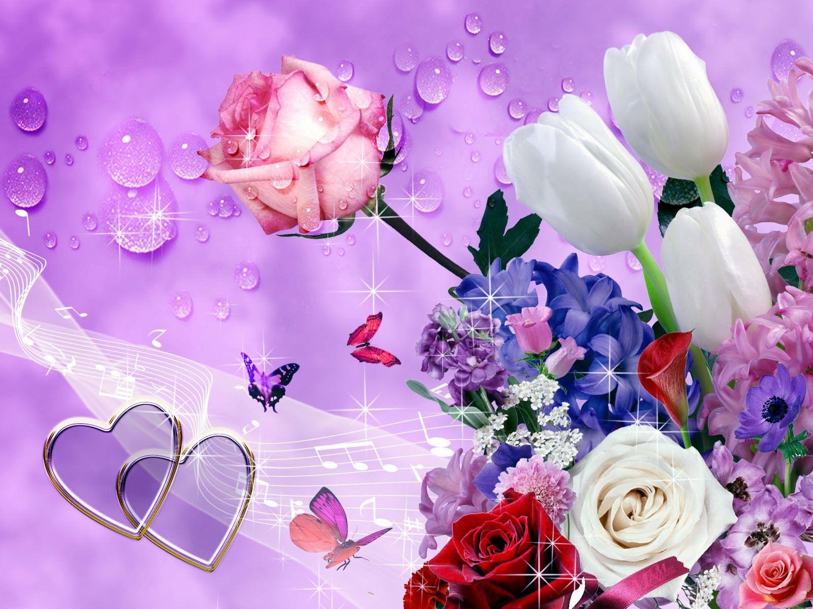 pink flowers wallpaper hd  Champs et Jardins Pinterest