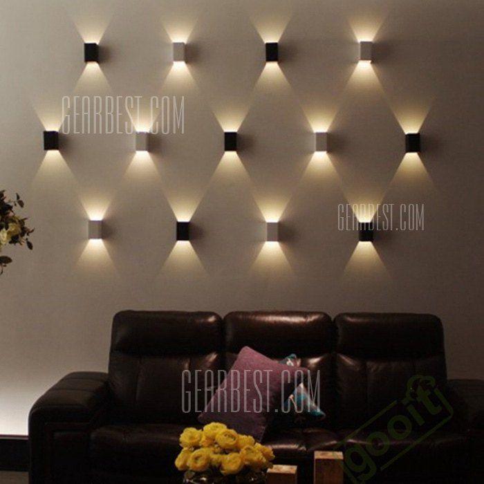 1w led wall light cuboid