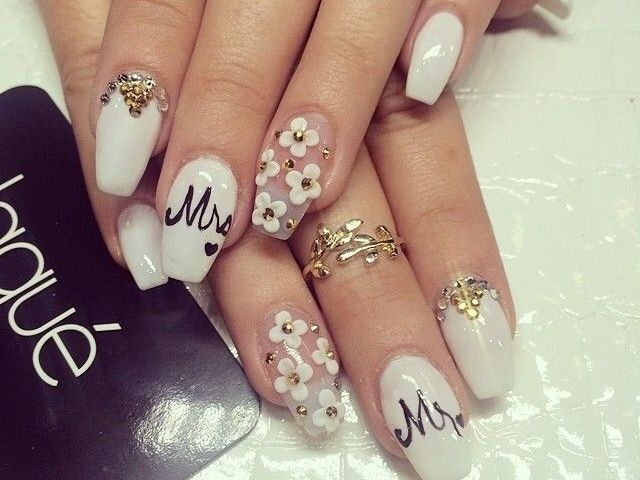 45 glam wedding nail art designs to try this year wedding nails 45 glam wedding nail art designs to try this year prinsesfo Choice Image
