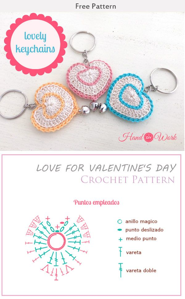 Love For Valentine\'s Day Crochet Pattern | San valentín, Día de y ...