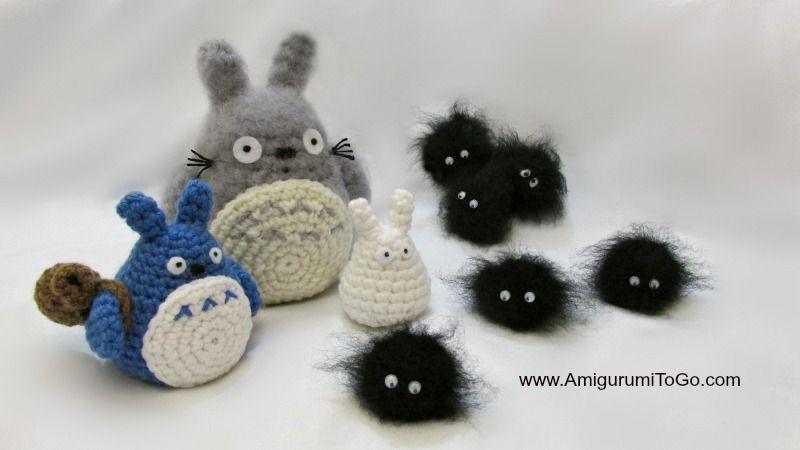 Amigurumi Totoro Receita : Amigurumi to go totoro and soot sprites free pattern with video