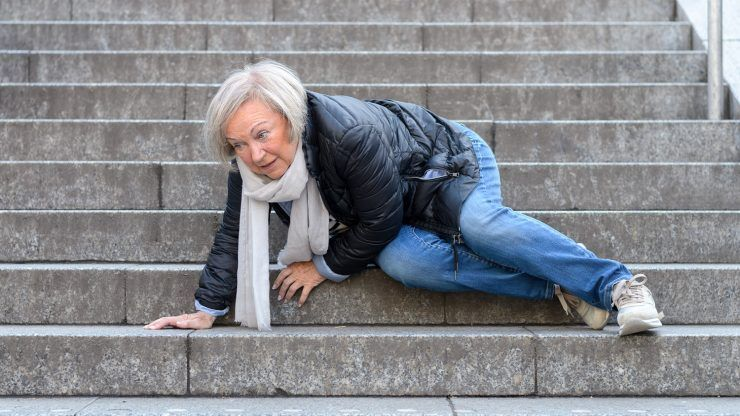Senior woman fall injury injury strikes after 60 will you