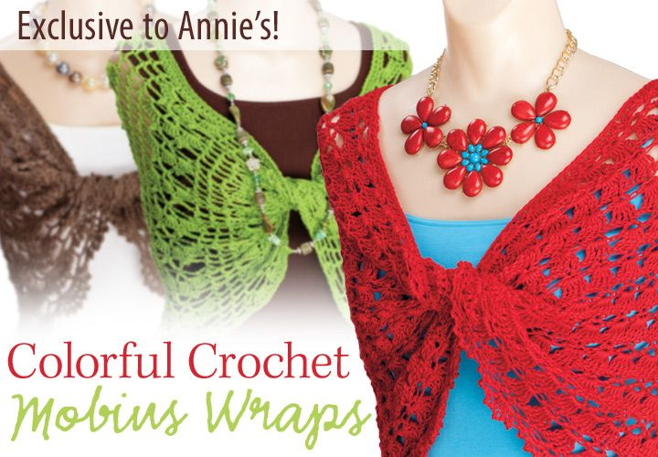 Colorful Crochet Mobius Wraps Pattern from Anniescatalog.com -- Wear ...