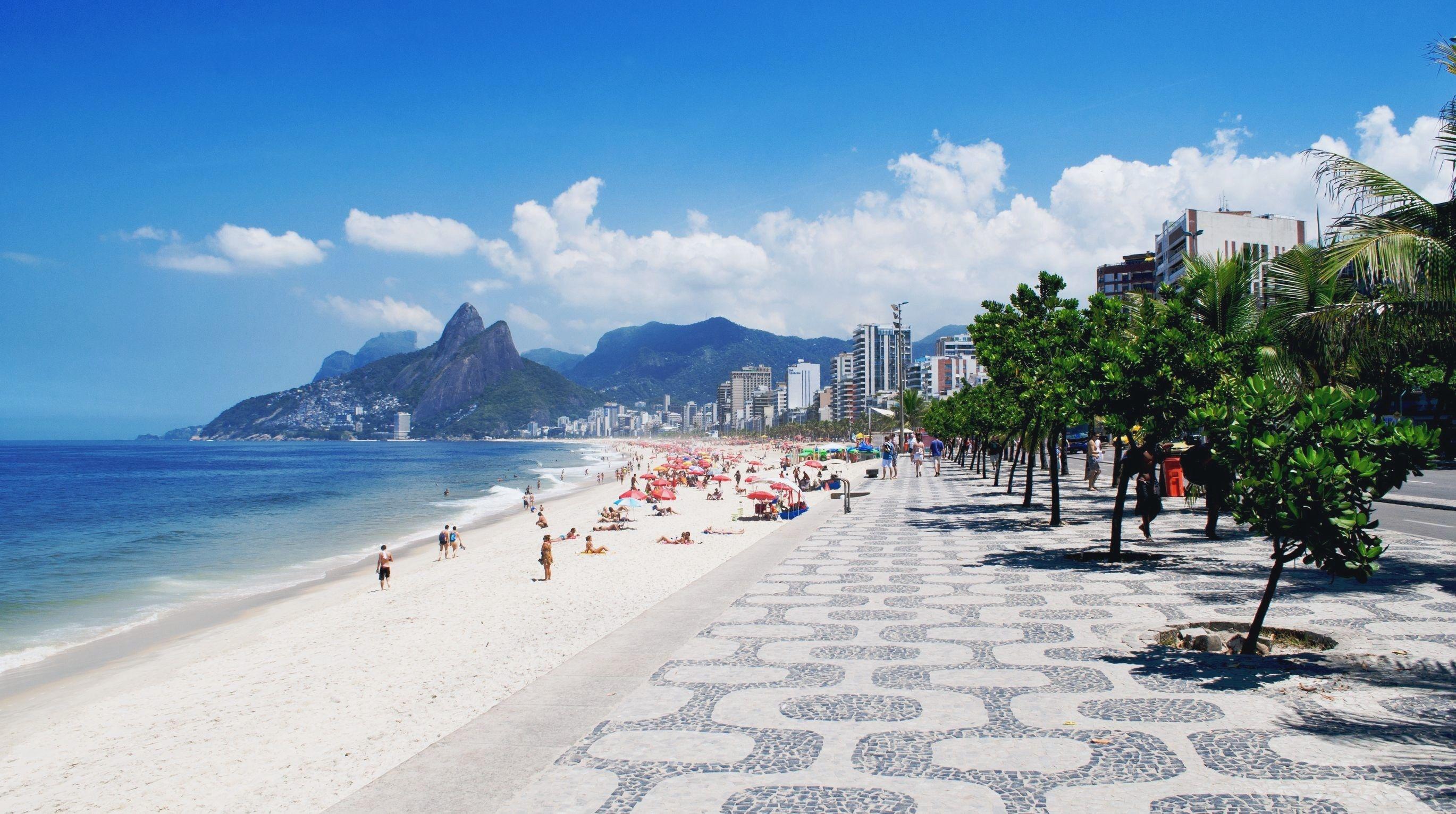 Rio De Janeiro Wallpapers Hd Travel Around The World Ipanema Beach Rio De Janeiro Ipanema Beach