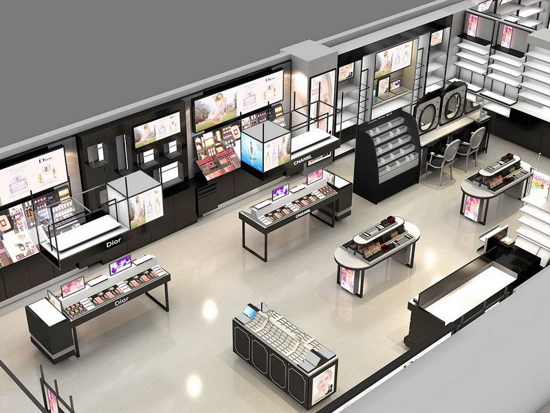 cosmetic store design layout Furniture shop, Store