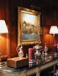 Classic and elegant lit by two side lamps
