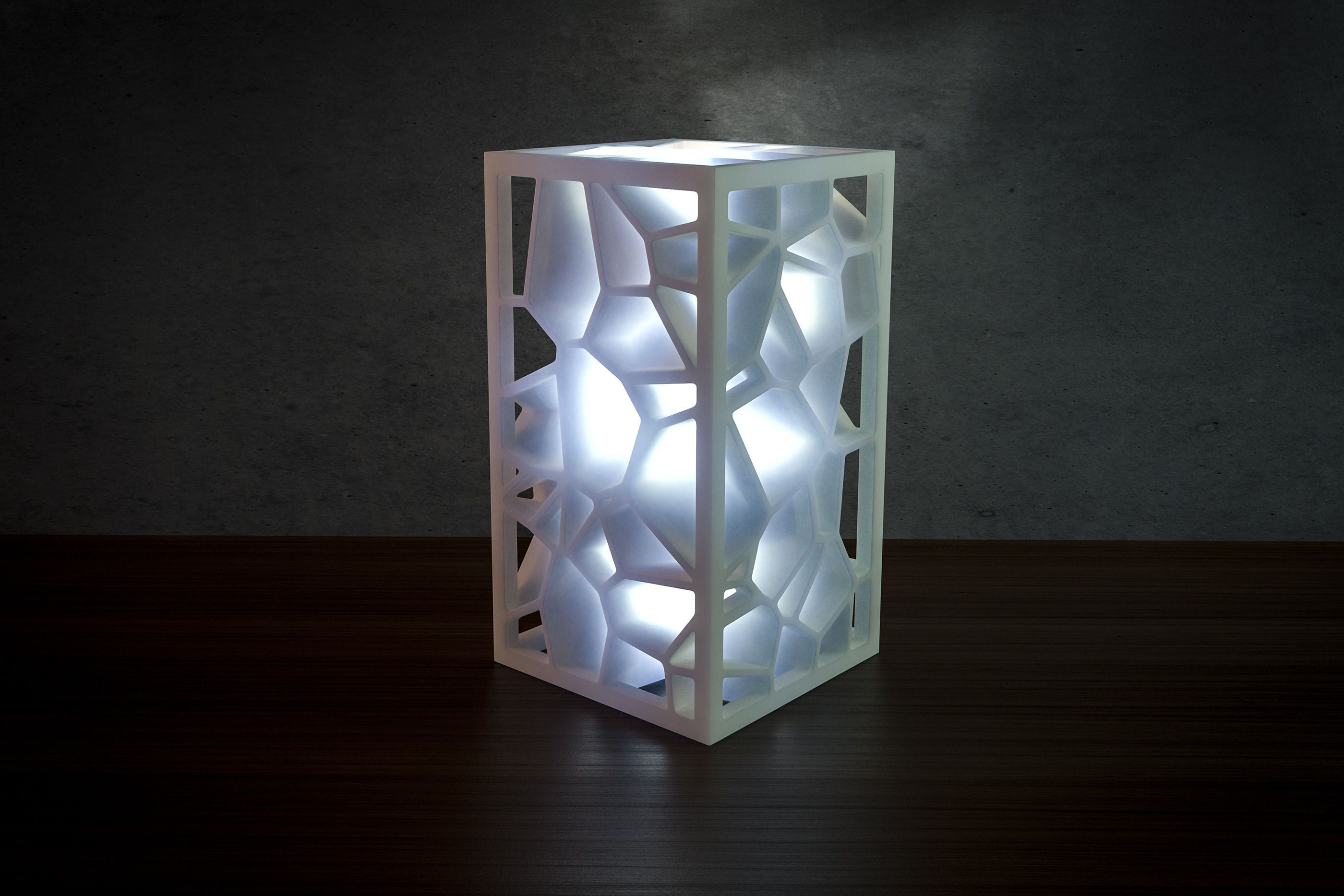 Generative Design Voronoi Lamp 3d Print Model Generative Design Lamp 3d Printing