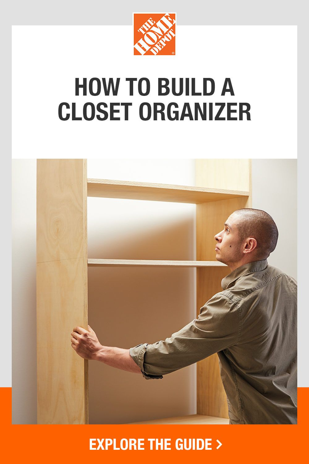 Revolutionize your closet with a DIY organizer. The Home Depot guide will give you inspiration and step-by-step instructions on how to keep your spaces neat and tidy. Click now to maximize your storage with this DIY closet system.