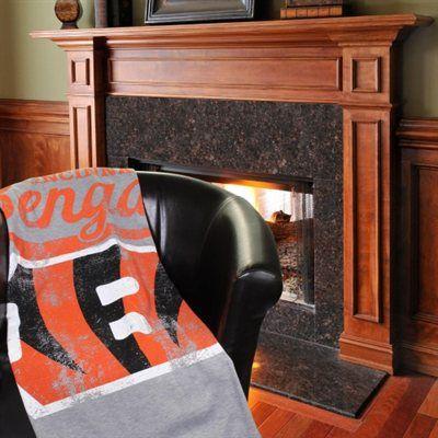 """Cincinnati Bengals 54"""" x 84"""" Sweatshirt Plush Blanket"""