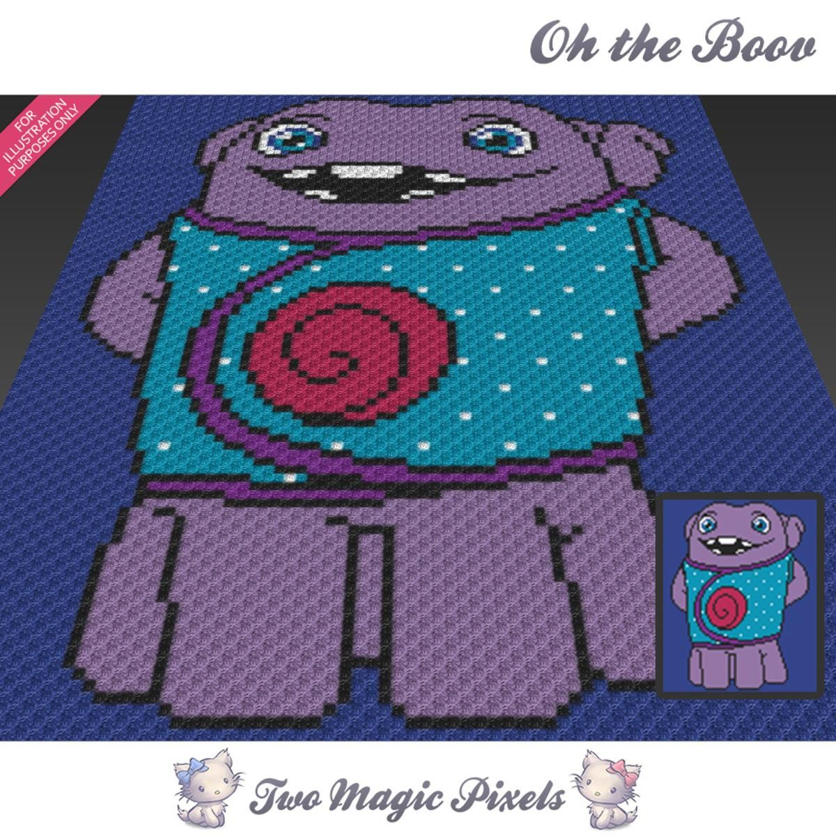 Oh The Boov C2C Crochet Graph | Decken