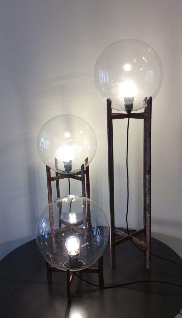 lamp gemaakt van gerecycleerde materialen, gerecycled glas, glazen ...