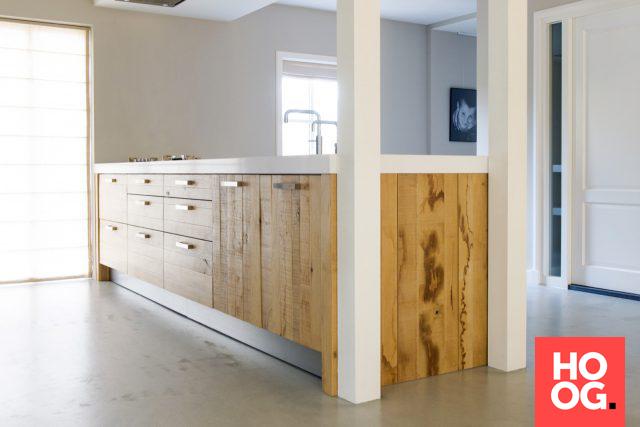 Luxe houten keuken combi lengte en breedte planken keuken