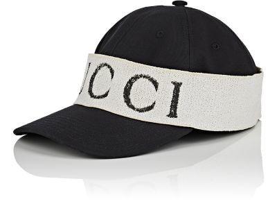 33c4e6c09478d GUCCI LOGO-BAND COTTON BASEBALL CAP.  gucci