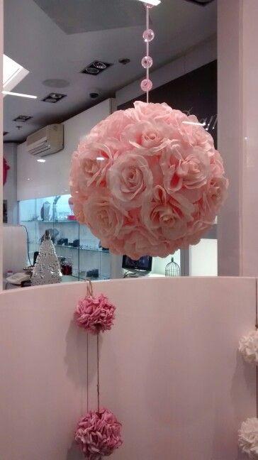 Rose printemps vitrine