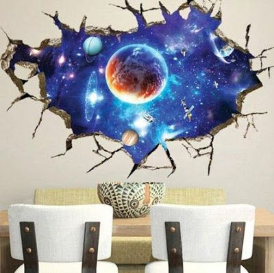 Wall Stickers Removable Wall Decor Space Wall Decals Wall
