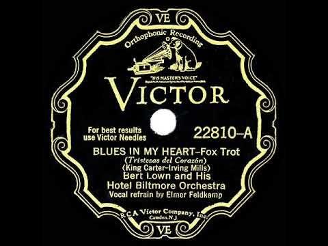 1931 Bert Lown Blues In My Heart Elmer Feldkamp Vocal