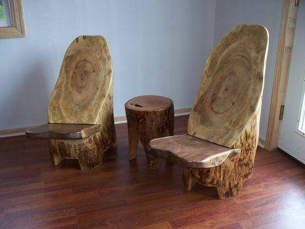 Captivating Log Stump Chairs