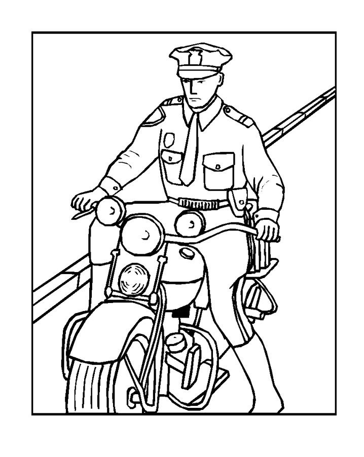 Pictures Online Coloring Policeman Coloring Pages For Kids Coloring Pages Coloring Books