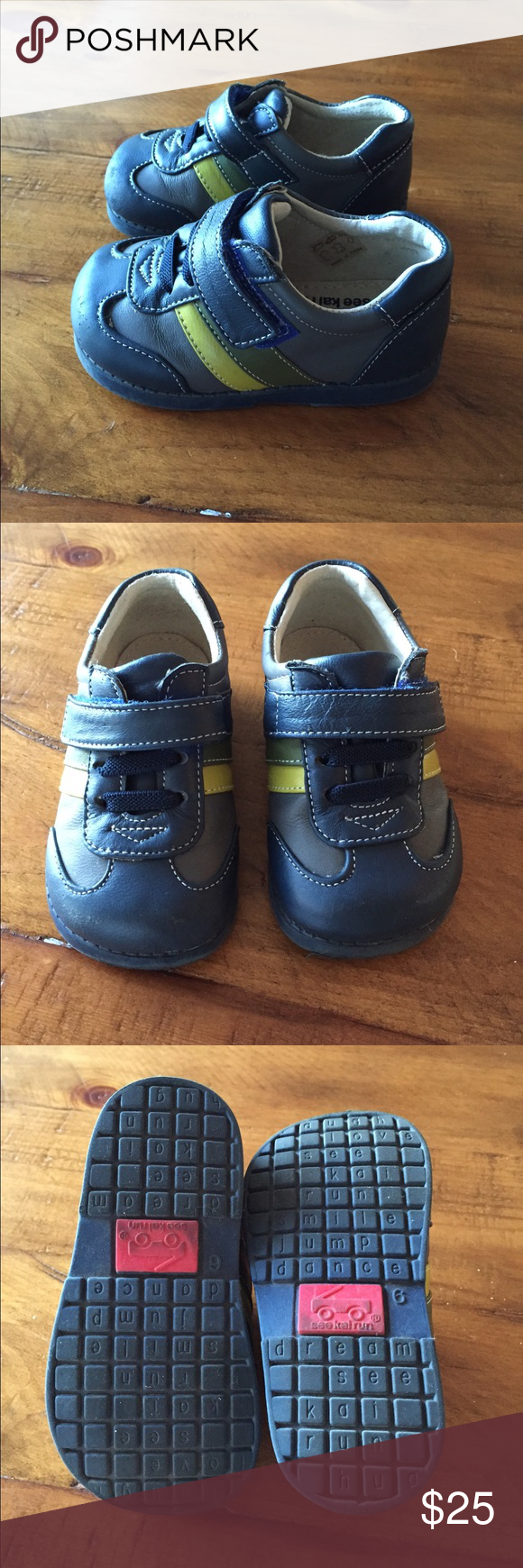 See Kai Run Shoes Like new condition. Adorable and well made shoes. Only work a few times, as shown on soles. See Kai Run Shoes