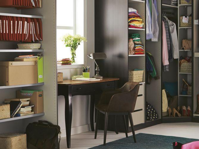 coin bureau nos id es pour am nager un petit bureau la maison elle d coration bureau. Black Bedroom Furniture Sets. Home Design Ideas