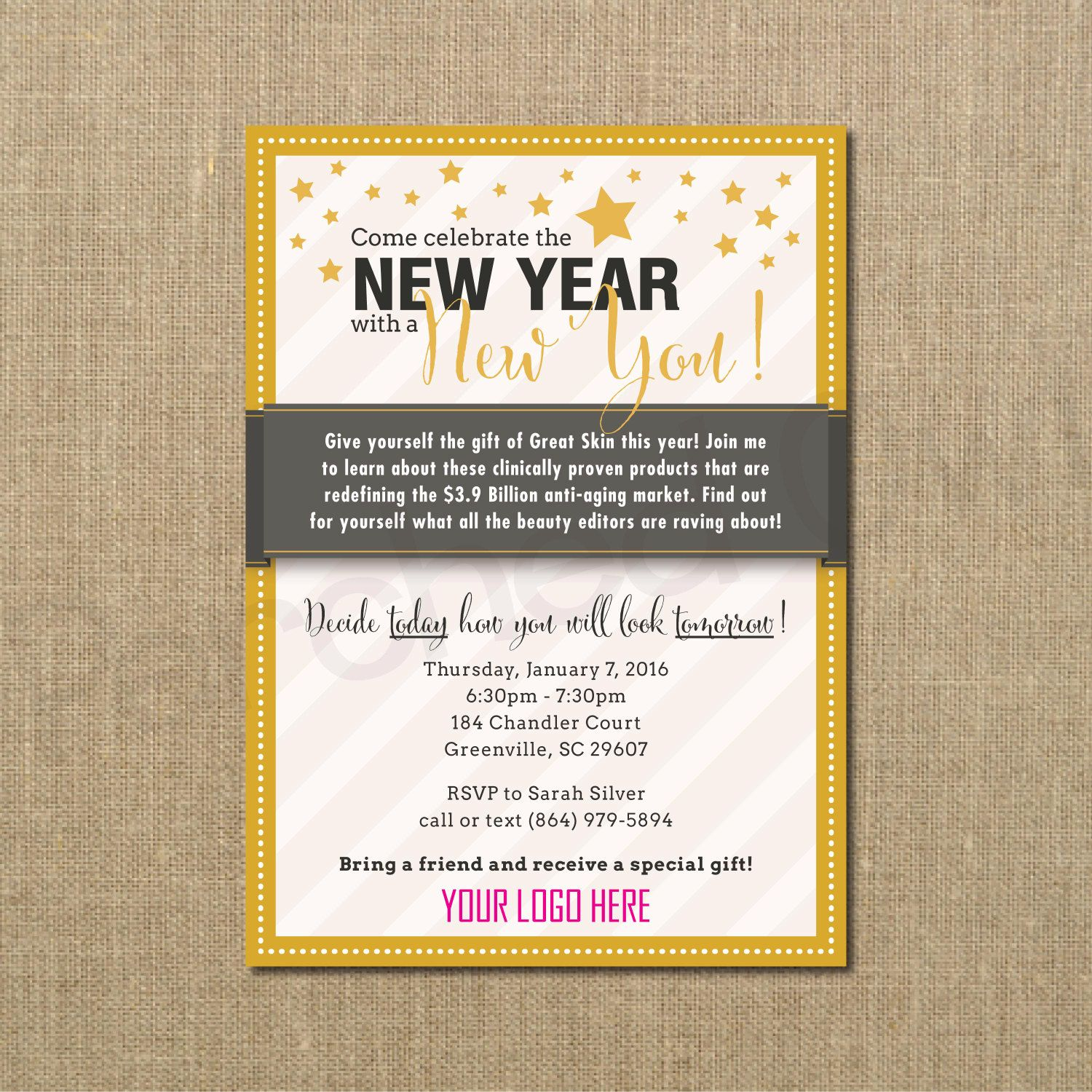 New Year New You Invitation - Direct Selling - Business Launch ...