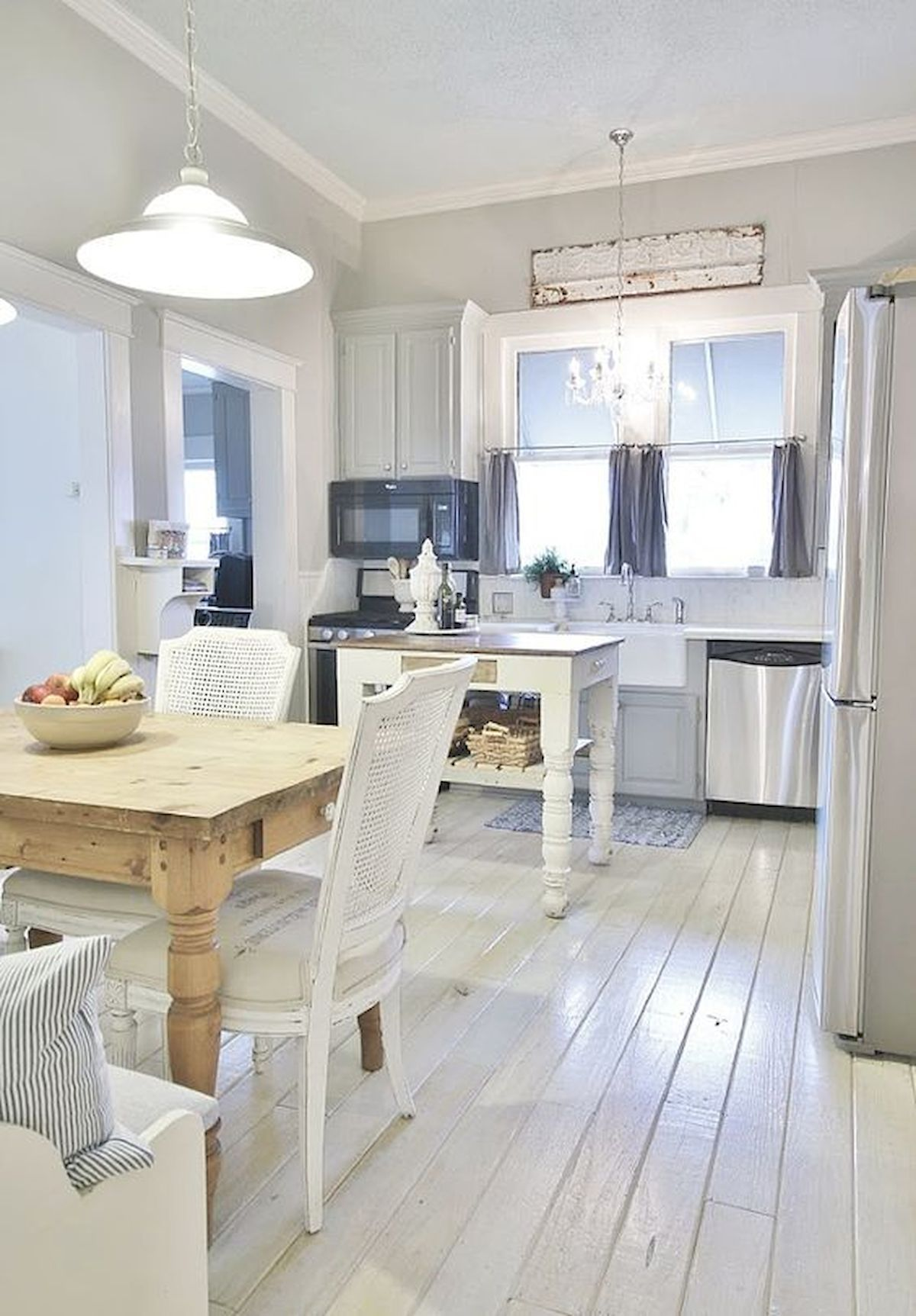 houzz white kitchens with wood floors