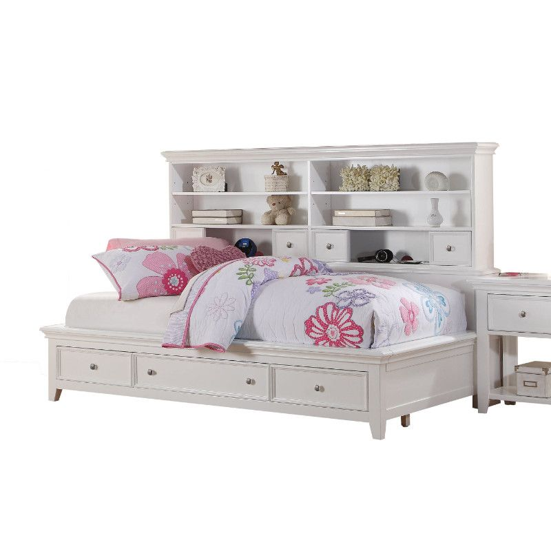 Acme 30595f Lacey White Finish Wood Full Day Bed Storage Drawers