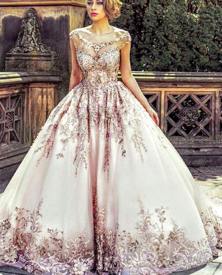 Pinterest Cutipieanu Rose Gold Wedding Dress Gold Bridal Gowns Wedding Dress Organza