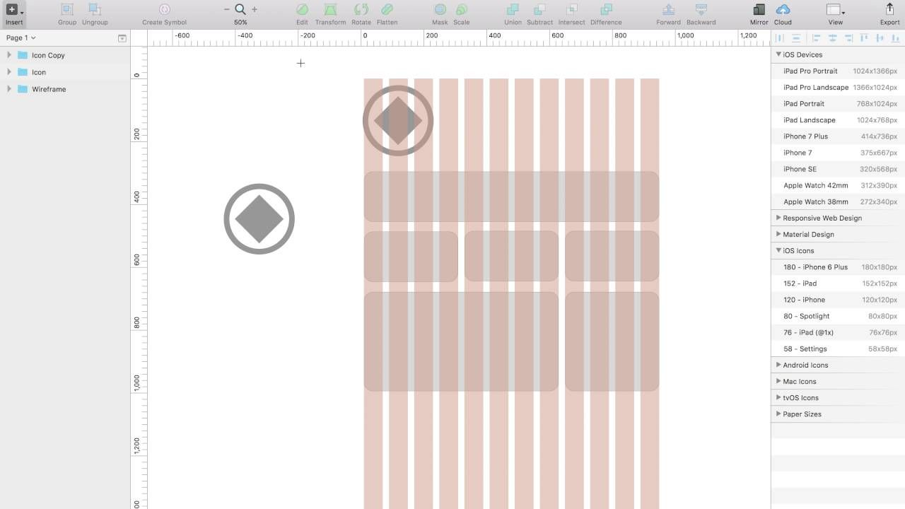 48 Sketch Artboards And Layout Grid Layout Web Design Tutorial