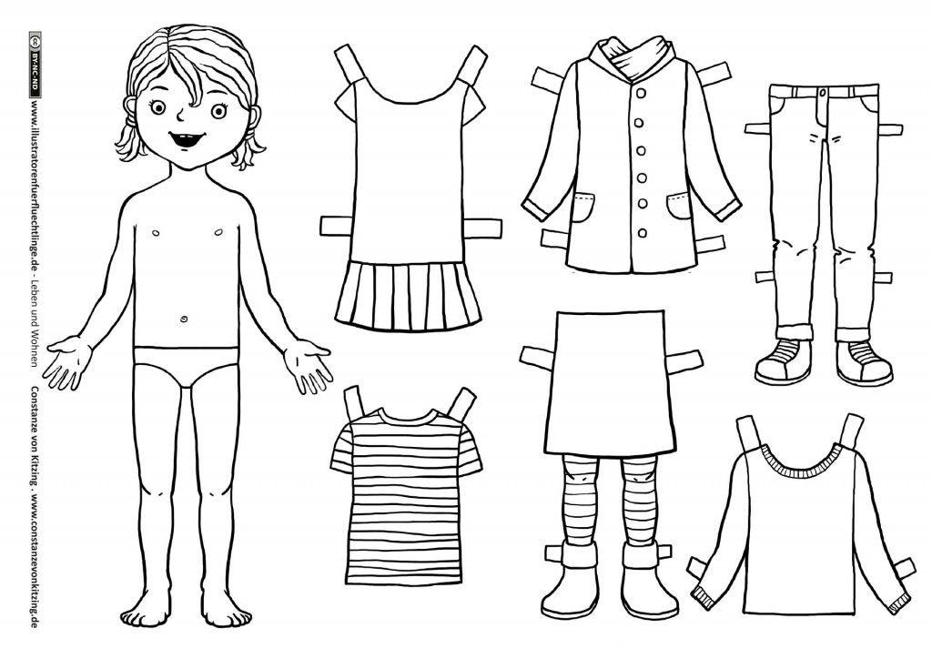 Leben und Wohnen - Kleidung Anziehpuppe Mädchen - von