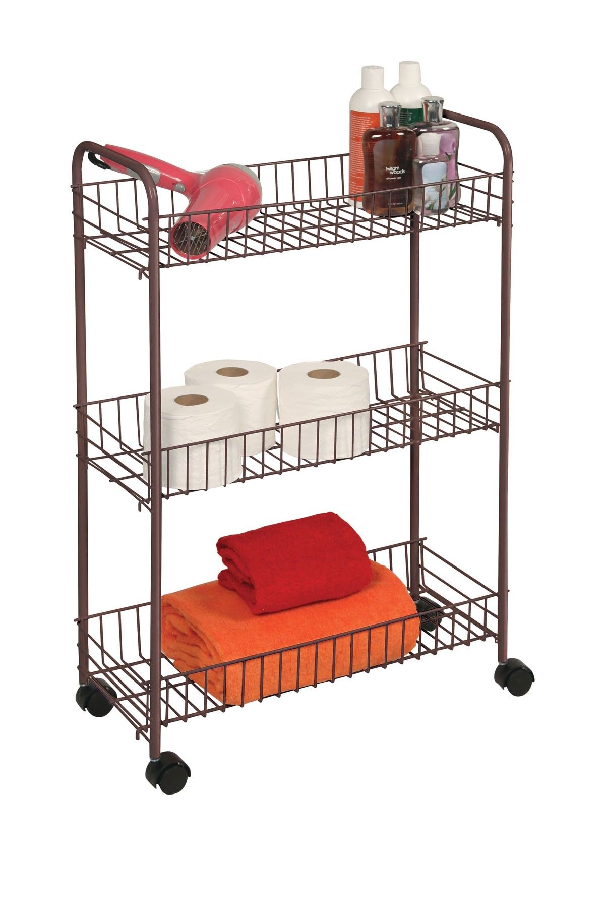 Richards 3Tier Medium Bronze Rolling Cart  Home Design  Pinterest Captivating Small Bathroom Cart Design Ideas