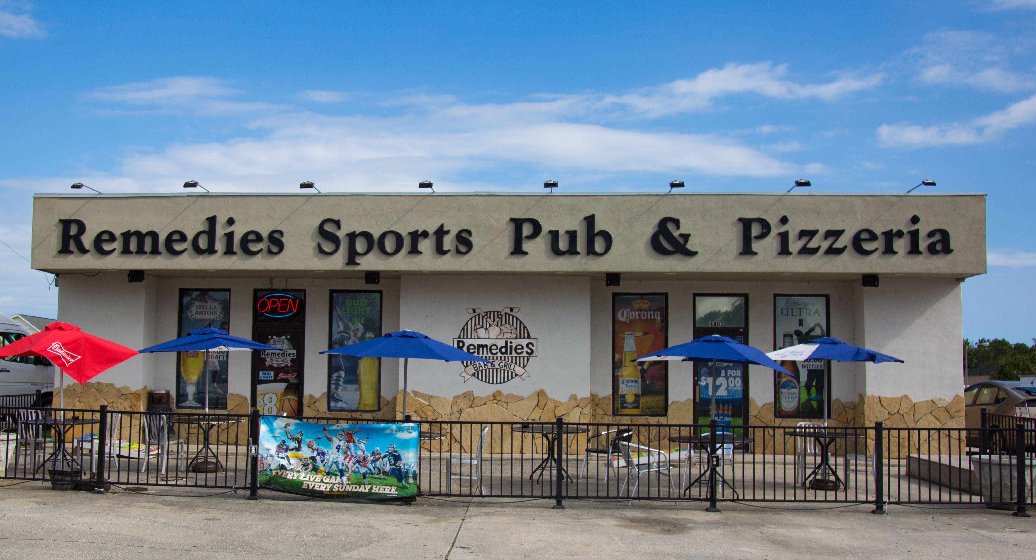 Remedies Sports Pub and Pizzeria | Sports pub, Remedies, Beach