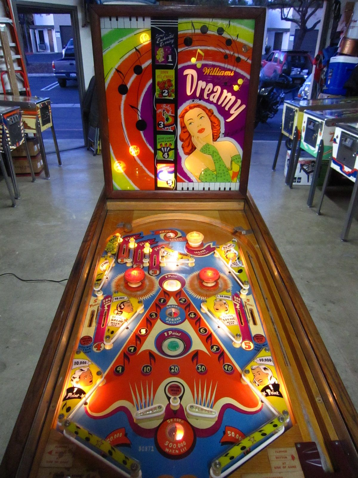 Juegos De Mesa Billar 1961 Dreamy Quotwilliams Quotpinball Machine Pinballs De Los