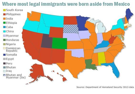 Markewatch-immigration-map | Immigration us, Mexico, Map