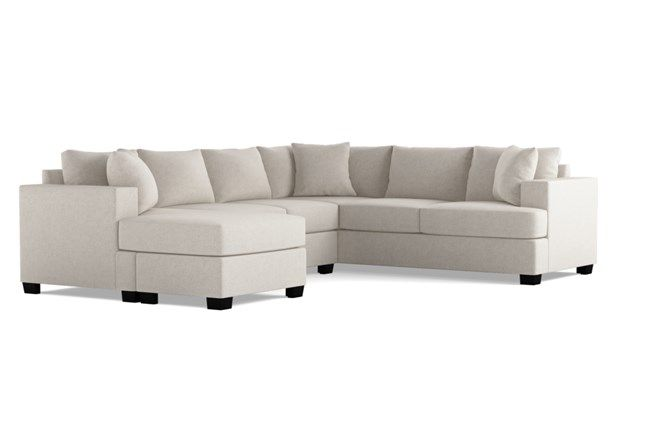 Best Kerri Charcoal 2 Piece Sectional With Left Arm Facing 400 x 300
