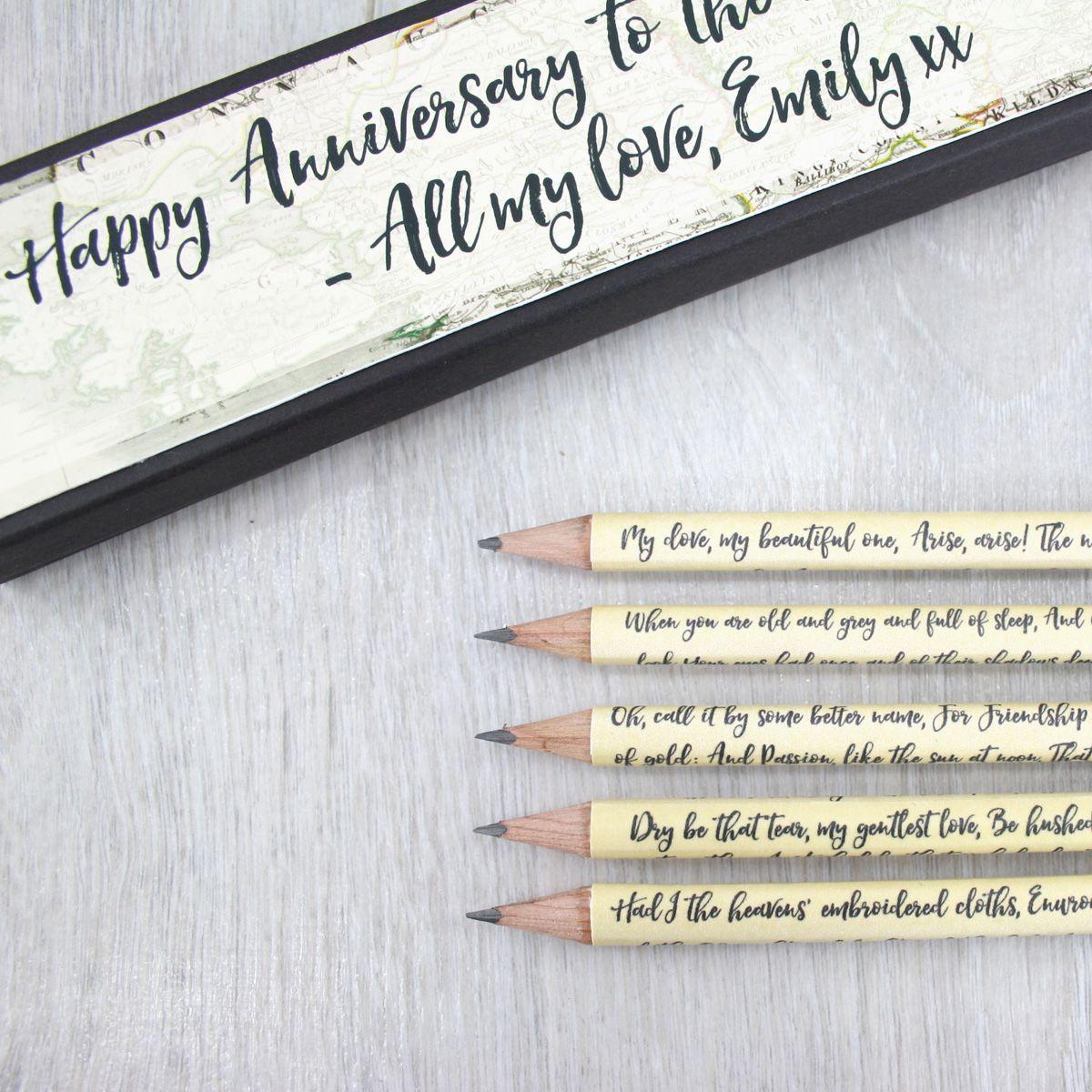 Irish Wedding Gifts From Ireland: Personalised Irish Poetry Gift Pencils