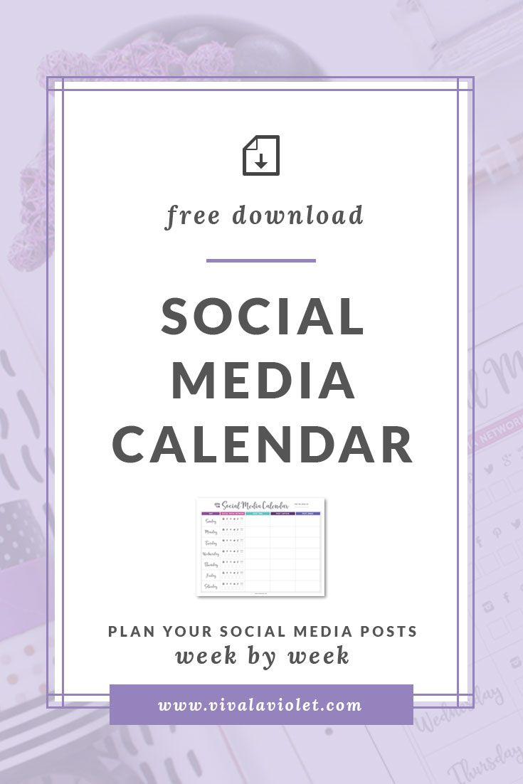 Free Printable Social Media Calendar Downloads And Printables