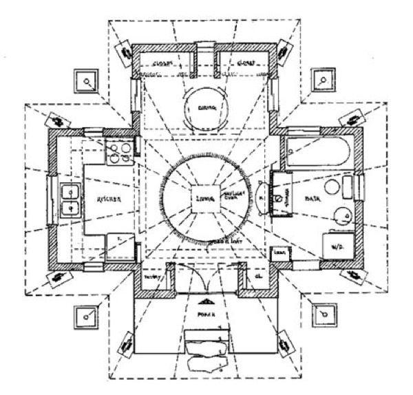 quietude cabin floor plan Quietude 29000 Small Prefab Cabin that – Vacation House Floor Plans