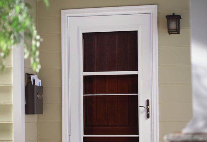 Guide To Installing A Storm Door At The Home Depot Aluminum Storm Doors Storm Door Painted Interior Doors
