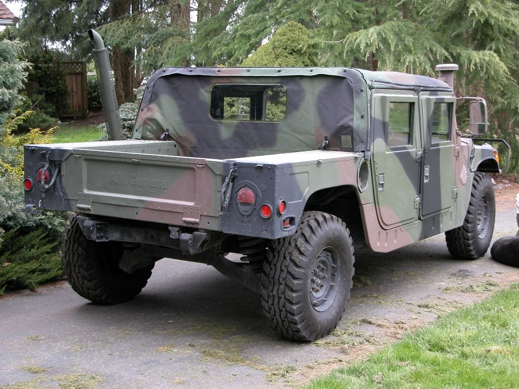 Image detail for 1985 military camo hummer