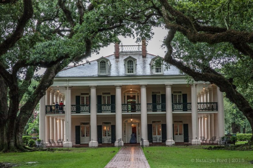 Louisiana Oak Alley Plantation antebllm & greek