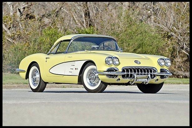 1958 Chevrolet Corvette Convertible 283 290 Hp 4 Speed Chevrolet Corvette Corvette Convertible Corvette