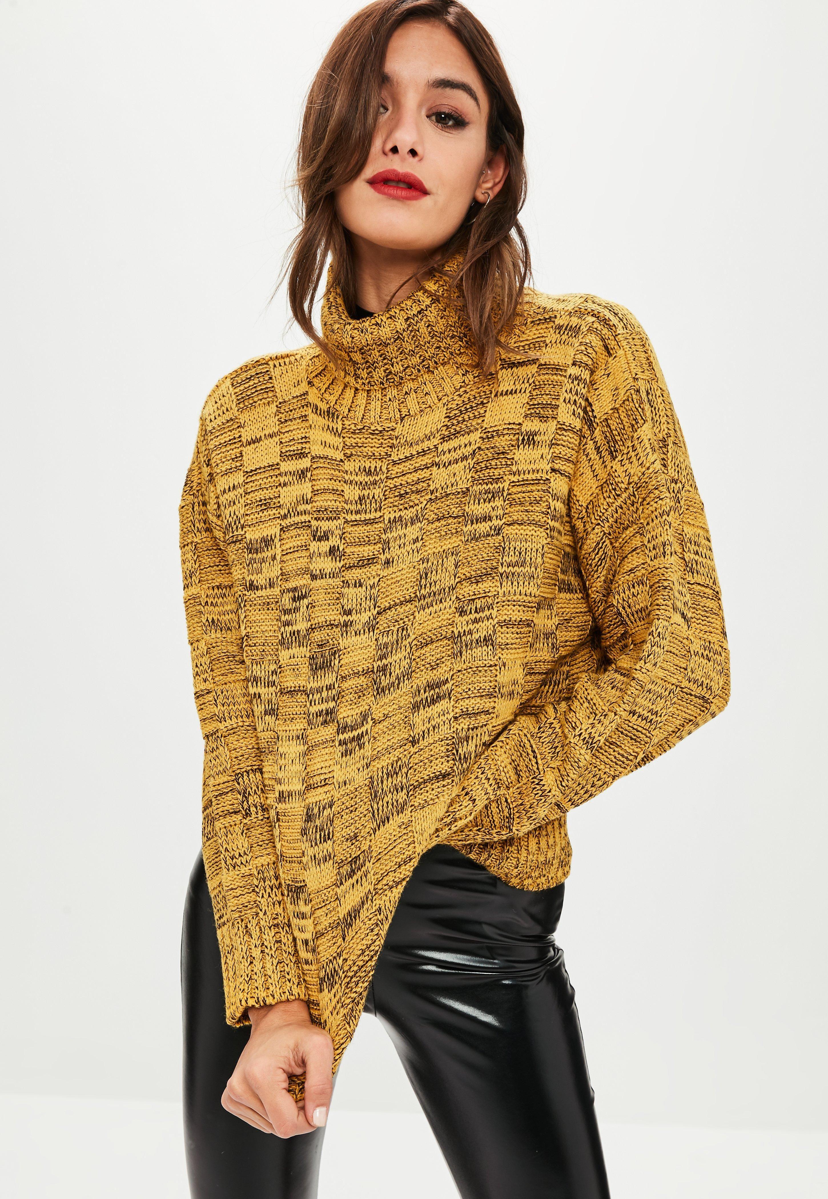 29416d97229127 mustard-waffle-knitted-jumper | Winter Warmers | Fashion, Waffle ...